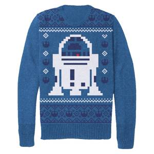 Star Wars Men's Christmas R2-D2 Knitted Jumper - Blue