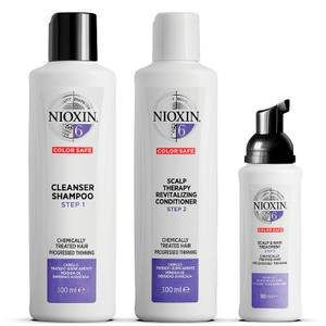 NIOXIN 3-Part System 6 Loyalty Kit for Chemically Treated Hair with Progressed Thinning