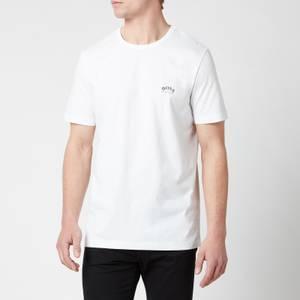 BOSS Men's Curved T-Shirt - White