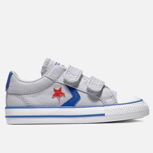 Converse Toddlers' Star Player Ox Velcro Trainers - Wolf Grey