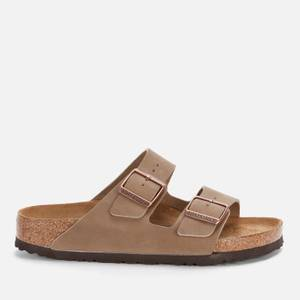 Birkenstock Women's Arizona Oiled Leather Double Strap Sandals - Tobacco Brown