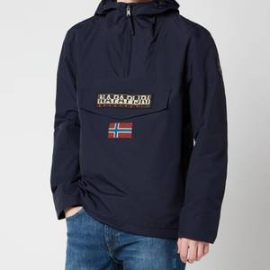 Napapijri Men's Rainforest M Sum 1 Hooded Popover Jacket - Blue Marine