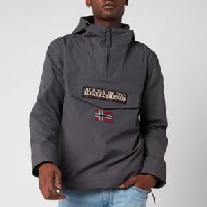 Napapijri Men's Rainforest M Sum 1 Hooded Popover Jacket - Volcano