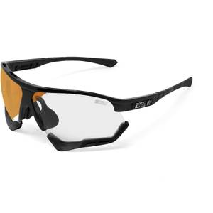 Scicon Aerocomfort XL Sunglasses SCN-XT Photochromic Bronze Mirror Lens - Black Gloss Frame