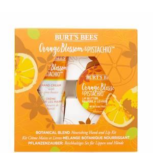 Coffret mains et lèvres produits nourrissants à base de plantes - Fleur d'oranger & Pistache