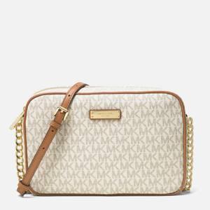 MICHAEL Michael Kors Women's Jet Set Large East West Cross Body Bag - Vanilla