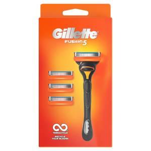 Gillette Fusion Razor + 3 Razor Blades