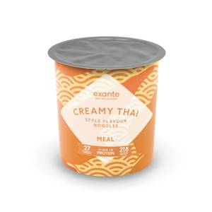 Meal Replacement Creamy Thai Style Noodles Pot Meal