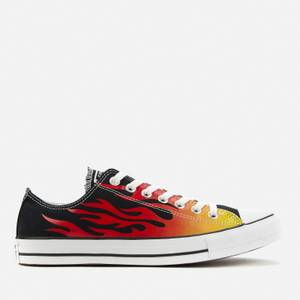 Converse Men's Chuck Taylor All Star Canvas Archive Flame Ox Trainers - Black/Enamel Red/Fresh Yellow