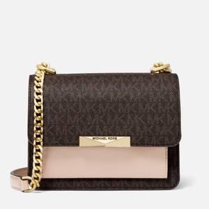 MICHAEL Michael Kors Women's Jade XS Gusset Cross Body Bag - Brown/Soft Pink