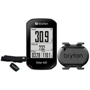 Bryton Rider 420T GPS Cycle Computer Bundle With Cadence & Heart Rate