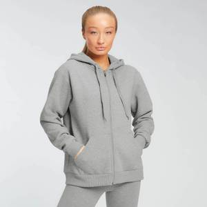 MP Essentials Zip Through Hoodie för kvinnor – Grå
