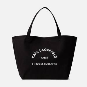 KARL LAGERFELD Women's K/Rue St Guillaume Canvas Tote Bag - Black