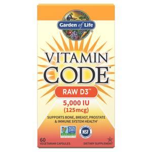 Vitamin Code Raw D3 5000 Iu - 60 Capsules
