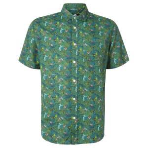 Limited Edition Jurassic Park Raptor Floral Printed Shirt - Zavvi Exclusive
