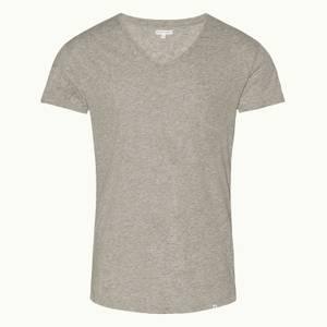 Orlebar Brown Men's Crewneck T-Shirt - Mid Grey Melange
