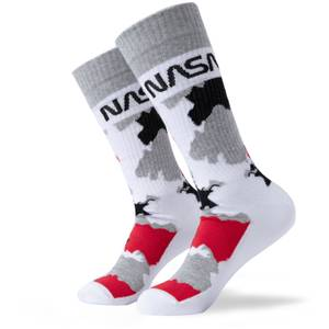 Men's NASA Camo Sports Socks - White