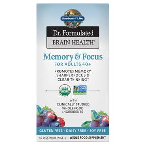 Brain Health Organic Memory - Adults 40+ - 60 Tablets