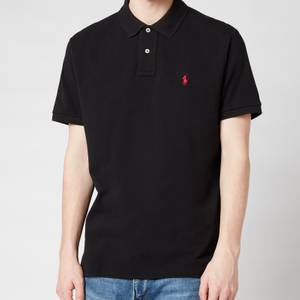 Polo Ralph Lauren Men's Custom Slim Fit Mesh Polo Shirt - Polo Black