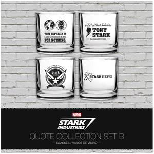 Marvel Iron Man Stark Industries Glass Set 4 pack Set 2