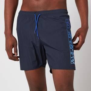Napapijri Men's Victor Side Logo Swimshorts - Blue Marine