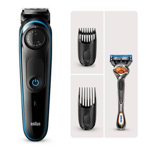 Braun Beard Trimmer 3 with 2 attachments and Gillette Razor
