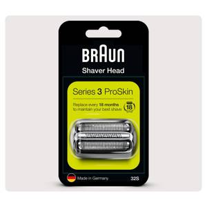 Braun Series 3 32S Electric Shaver Head Replacement, Silver