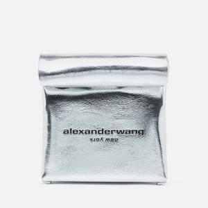Alexander Wang Women's Lunch Clutch - Metallic Silver