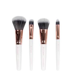 brushworks Travel Brush Set - White/Gold
