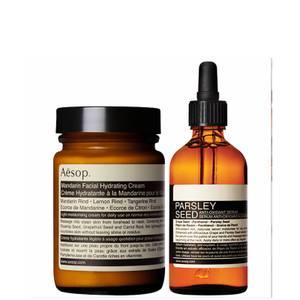 Aesop Mandarin Facial Cream and Parsley Seed Serum Duo (Worth £106.00)