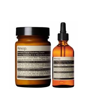 Aesop Mandarin Facial Cream and Lightweight Serum Duo (Worth £98.00)