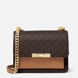MICHAEL MICHAEL KORS Women's Jade Gusset Cross Body Bag - Brown