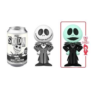 Disney Nightmare Before Christmas Jack Skellington Vinyl Soda Figure in Collector Can