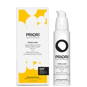 PRIORI Skincare TETRA fx251 Broad Spectrum SPF50 Sunscreen Color Guide 50ml