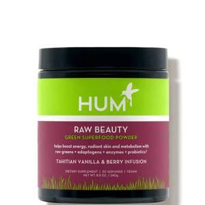HUM Nutrition Raw Beauty Green Superfood Powder Tahitian Vanilla Berry Infusion 8.5oz