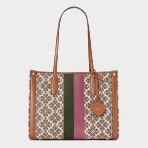 Kate Spade New York Women's Market Spade Flower Jacquard Medium Tote Bag - Pink Multi