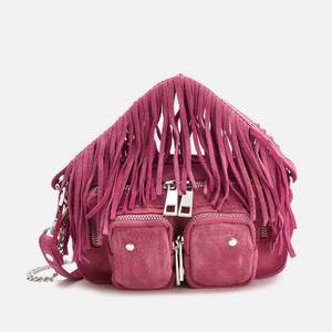 Núnoo Women's Helena Fringe Suede Bag - Pink