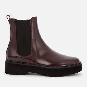 Tod's Women's Leather Chelsea Boots - Burgundy