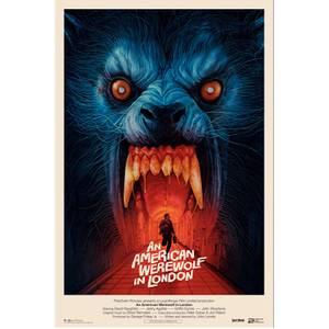 An American Werewolf In London 24 x 36 Screenprint by Gabz – Main Edition