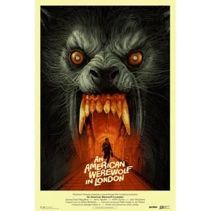 An American Werewolf In London 24 x 36 Screenprint by Gabz – Variant Edition