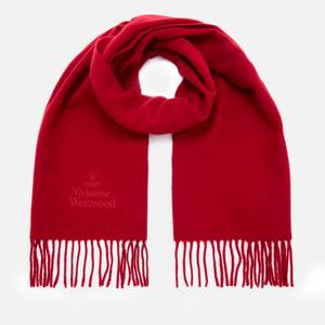 Vivienne Westwood Women's Embroidered Wool Scarf - Red
