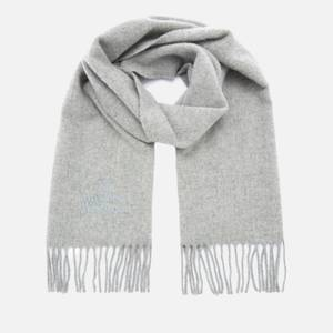 Vivienne Westwood Women's Embroidered Wool Scarf - Light Grey