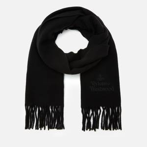 Vivienne Westwood Women's Embroidered Wool Scarf - Black