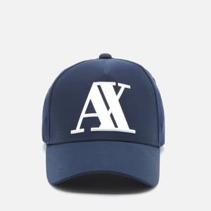 Armani Exchange Men's Rubber Ax Logo Cap - Navy
