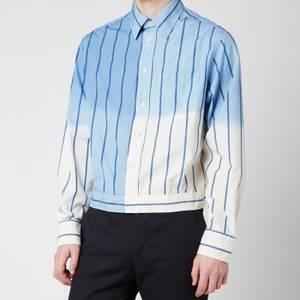 Lanvin Men's Overdyed Shirt Jacket - Blue