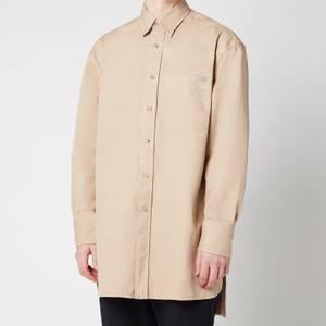 Lanvin Men's Oversized Chest Pocket Shirt - Sand
