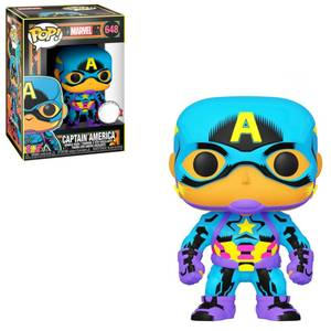 Marvel Black Light Captain America Funko EXC Pop! Vinyl