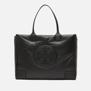 Tory Burch Women's Ella Leather Puffer Tote - Black
