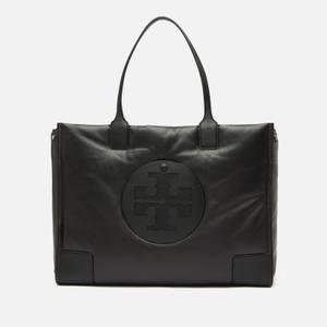 Tory Burch Women's Ella Leather Puffer Tote - Black