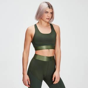 Γυναικείο Αθλητικό Σουτιέν MP Adapt Με Ανάγλυφη Υφή - Σκούρο πράσινο